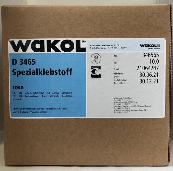 Klebstoff - Wakol Dispersion 3465 - rosa - 10 KG