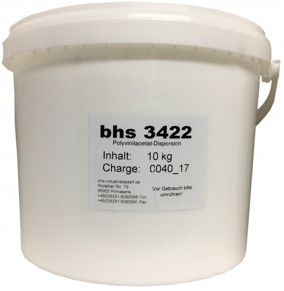Klebstoff - bhs Dispersionsleim 3422 - weiß - 10 KG