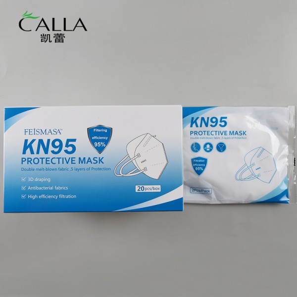 Feismasa KN95 Maske - weiß - 4 Stück